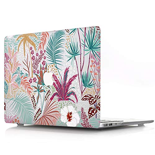 ACJYX Compatible with MacBook Air 13 inch Case 2020 2019 2018 Release A2337 M1 A2179 A1932 Retina Display with Touch ID, Print Pattern Coated Plastic Protective Hard Shell Case, Colored Leaves