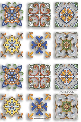 NOTEBOOK: Decorative Ceramic Tiles Beautiful/Artistic design, Lined Journal, Journal, Notebook, Diary, Composition