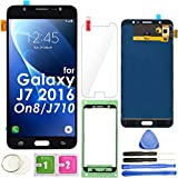 J7 2016 LCD Screen Replacement Touch Display Digitizer Assembly (Black) for Samsung Galaxy J710 SM-J710 J710DS J710H J710MN J710GN J710K J710FN / On8 J710F J710FZ J710DF SM-J710MN