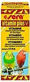 sera vitamin plus V 15 ml/Multivitamintropfen, eine schmackhafte Emulsion aus 12 wertvollen Vitaminen, zur zusätzlichen Vitaminversorgung von Ziervögel wie Wellensittich, Agaponiden & Nymphensittich