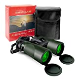 binocolo professionale, lachesis 20x50 binocolo compatto per adulti, binocolo visione notturna bassa per osservazione uccelli, escursioni, concerti, con copriobiettivo, panno di pulizia e custodia