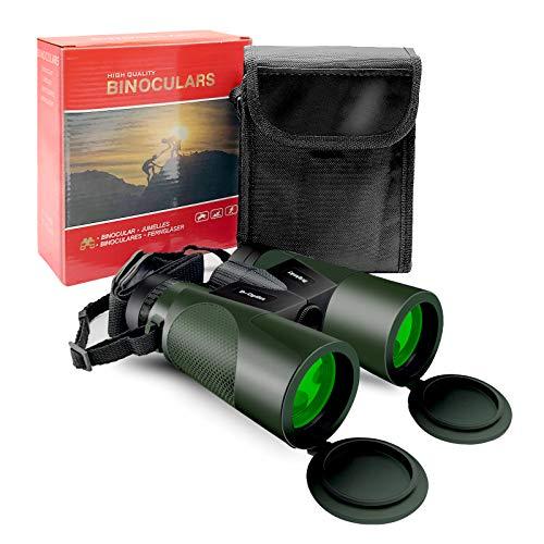 Prismáticos Profesionales, Lachesis 20 x 50 HD Binoculares Visión Nocturna, para Observación de Aves, Senderismo, Viajes, Deportes, con Tapas de Objetivo, paño de Limpieza y Bolsa de Transporte
