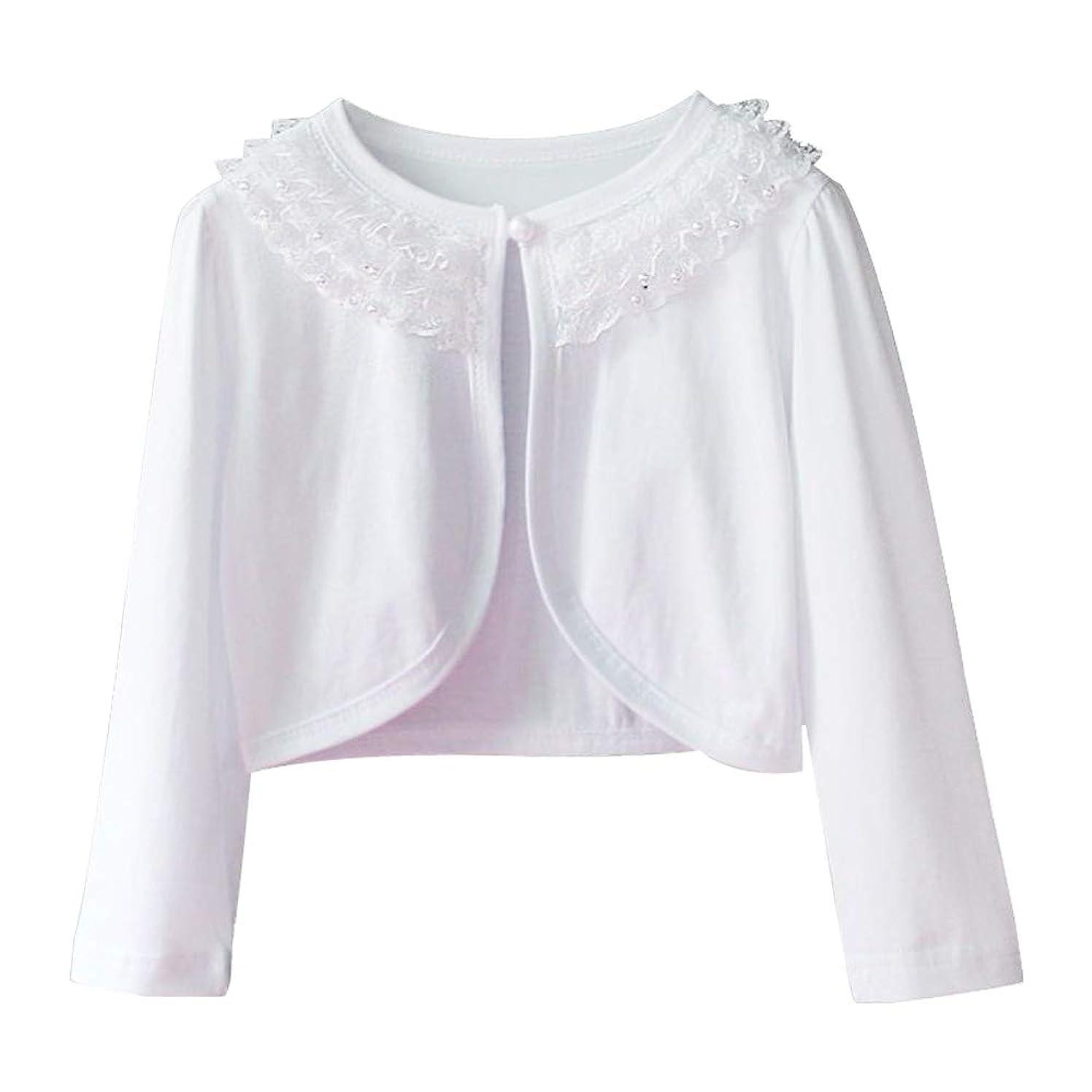 CHENXIN Girl Shrugs Knit Long Sleeve Lace Bolero Cardigan Shrug