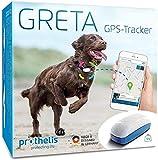 Prothelis Greta Hunde GPS Tracker für Halsband | Made in Germany | Gerät zur Hunde Ortung mit Handy schnell und genau | GPS Peilsender zur Hundeortung wasserdicht | Hundetracker Hundehalsband