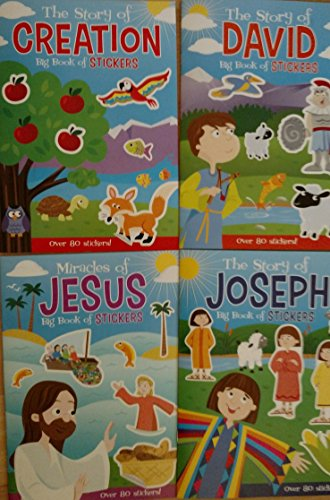 Bible Big Book of Stickers (Assorted, Titles & Quantities Vary), Story of Creation, Story of David, Miracles of Jesus, and / or Story of Joseph