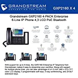 Lot of 4 Grandstream GXP2160 Enterprise 6-Line IP Phone, 4.3 LCD, PoE, Bluetooth