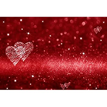 Love 10x12 FT Photo Backdrops,Hearts and Love You Message Romantic Valentines Day Inspired Springtime Cheerful Art Background for Party Home Decor Outdoorsy Theme Vinyl Shoot Props Multicolor