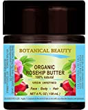 ROSEHIP SEED OIL - BUTTER ORGANIC 100% Natural/VIRGIN/UNREFINED/RAW / 100 PURE BOTANICAL. 4 Fl.oz.- 120 ml. For Skin, Hair and Nail Care.