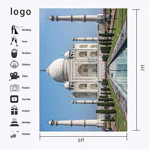 7/×5ft Taj Mahal Backdrop India Civilization Famous Building Picture for Photography Background Photo Studio Props VZ006