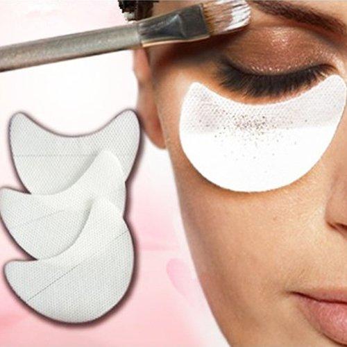 Livecity 50 pcs jetables Ombre à paupières boucliers Maquillage Beauté Guard Coussinets Cosmétique outils