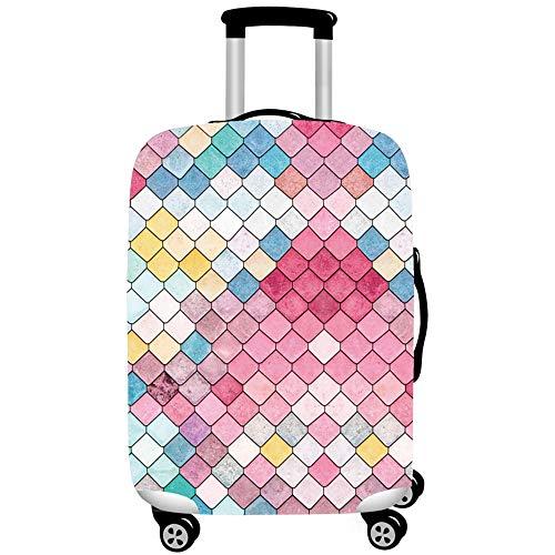 JDLAX Protector de Maleta de Viaje Cremallera Cubierta de Maleta Cubierta de Equipaje de impresión Lavable 18-32 Pulgadas Nuevo,D,XL