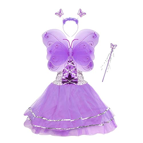 e1f7d9400fa Girls Dress Up Princess Fairy Costume Set with Dress