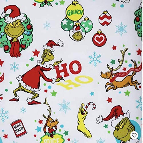 Franco Manufacturing Grinch HO HO Flannel Cotton Sheet Set (Twin)