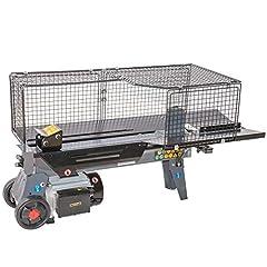STAHLMANN® hydrauliczny rozdzielacz drewna, siła szczeliny 7 ton, nieskończenie regulowana ścieżka szczelinowa, testowany TÜV GS