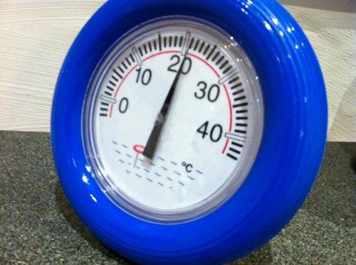 Weigand Thermomètre pour piscine avec anneau flottant bleu et cadran lisible