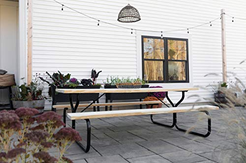 Woodlawn&Home, 600014, Picnic Table Frame, Black