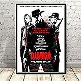 JMHomeDecor Carteles E Impresiones Tarantino Django Película Clásica Película Artística Pintura Cuadros De Pared para Sala De Estar Dormitorio Decoración del Hogar 50X70Cm Ju-2580