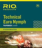 RIO Products Technical Euro Nymph Leader w/Pink/Chartreuse Indicator Tippet and Tippet Ring - 14ft, 2X/4X, Pink/Chartreuse, 6-24049, 6-24049, 6-24049, 6-24049