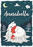 Annabella: Taccuino A5 | Nome personalizzato Annabella | Regalo di compleanno per bambina, sorella, moglie, bambino ... | Design: neve | 120 pagine a righe, piccolo formato A5 (14.8 x 21 cm)
