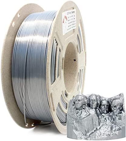 Reprapper Silver Silk PLA Filament for 3D Printer 3D Pen 1 75 mm 0 03 mm 2 2 lbs 1 kg Silky product image