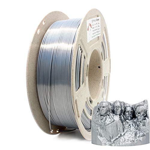 RepRapper 1kg シルバー シルク PLA 3Dプリンターフィラメント 1.75mm + ノズル洗浄針