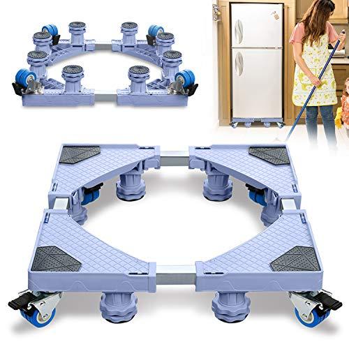 LZQ Waschmaschinen Untergestell, Bärenlast 300 kg Waschmaschine Sockel Verstellbare Sockel für Kühlschrank Waschmaschine Trockner und Gefrierschrank(Einstellbare Breite 44-75 cm Höhe 11-13 cm)