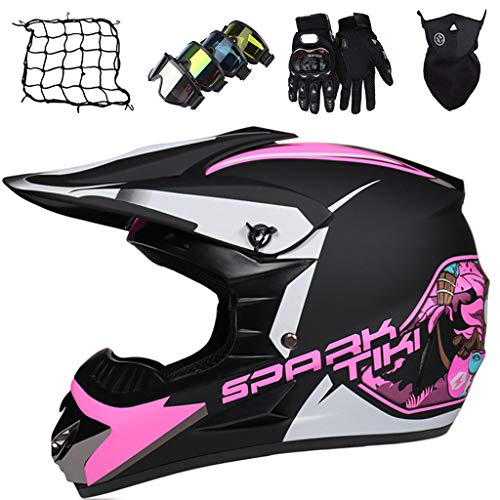 Casco Motocross Niño 5~12 Años,MJH-01 Casco Integral MTB Adulto ECE & DOT...