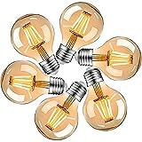 Bombilla Edison E27, LED Vintage Bombilla E27, G80, 4 W, E27, LED Vintage blanco cálido, ideal para nostalgia y iluminación retro (6 unidades)