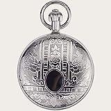 SGSG Reloj Colgante de Collar de Reloj de Bolsillo de Cuarzo con Esfera Redonda Antigua Vintage