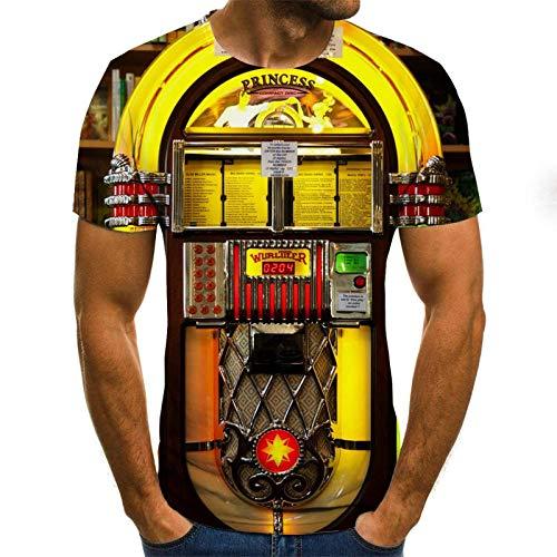 Creatieve Geometrische Deur Vorm Unisex T Shirt Zomer 3D Gedrukt Korte Mouw Geel Gepersonaliseerde Lelijke Tops Tees voor Strand Vakantie