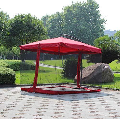 AMhuui Outdoor Umbrella Table Écran, Simple Moustiquaire Pliant Mosquito Net Tête Mesh pour Hommes Et Femmes Ultime Protection Extérieure W/Fermeture De Porte Et De Polyester Netting