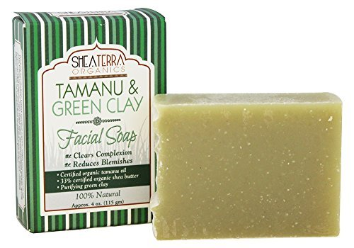 Tamanu & Green Clay Purifying Face & Body Cleansing Bar by Shea Terra Organics