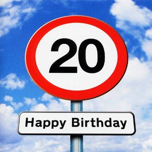Biglietto di auguri per 20esimo compleanno, Twizler, motivo: segnale stradale, 20anni di età,...
