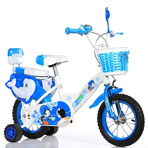 haozai Bicicleta para Niños De 4 A 11 Años, Llanta Antideslizante Resistente Al Desgaste, Sillín Grueso Y Cómodo con Ruedas Auxiliares,Bicicleta Montaña