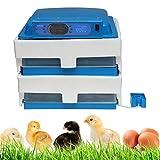 Incubadora automática del huevo, agregar automáticamente Agua Humedad ajustable LED Inicio La eclosión de la máquina, para Bird pollo ganso Incubadora del huevo de pato,96 Dual power