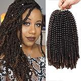 12 inch Spring Twist Crochet Braids Bomb Twist Crochet Hair Beyond Beauty Ombre...
