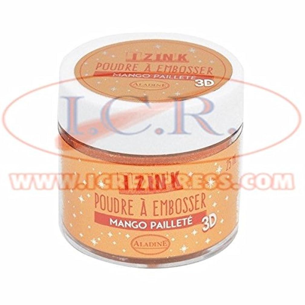 Aladine 10211 Embossing Powder 25 ml Orange Glitter