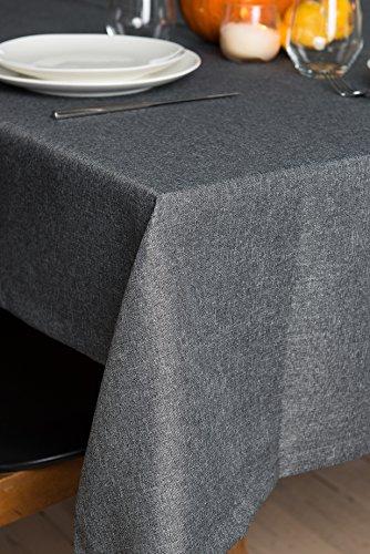 Rollmayer abwaschbar Tischdecke Wasserabweisend/Lotuseffekt (Melange Aschgrau 20, 150x180cm) Leinenoptik Tischtuch mit pflegeleicht Fleckschutz, Rechteckig, Farbe & Größe wählbar
