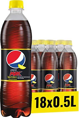 Pepsi Max Lemon, 18er pack (18 x 500 ml)