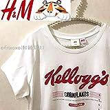 H&M エイチアンドエム ケロッグ コーンフレーク Tシャツ 企業ロゴTシャツ 企業コラボTシャツ EUR S