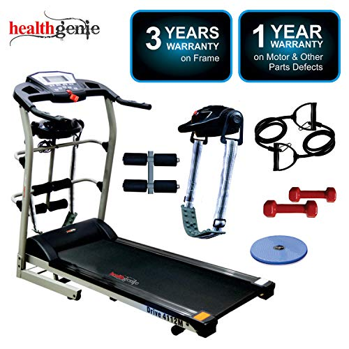 Healthgenie 4112M, 6in1 Motorized Treadmill for Home Use &...