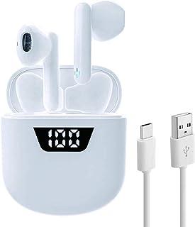 comprar comparacion Auriculares inalámbricos Air7 Bluetooth 5.2 con Caja de Carga con Pantalla LED de 35 Horas/Cambio rápido USB-C Micrófono...