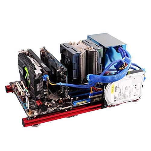 PC offenes Gehäuse, DIY Mini offenes Aluminiumlegierungs-Rahmen ATX-Motherboard PC-Computergehäuse, offenes Rahmen-Design hat gute Wärmeableitungsleistung und lässt sich mit der einfachen Struktur lei