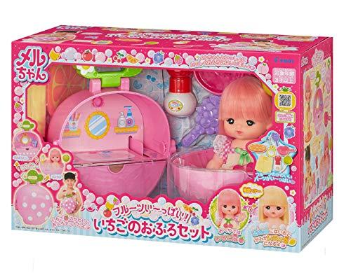 パイロットインキ(PILOT INK) お人形セット フルーツい~っぱい! いちごのおふろセット 3歳以上