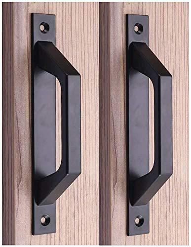 Poignée en bois 19.6cm de traction de porte de porte de grange de poignée de porte de porte coulissante en acier au carbone