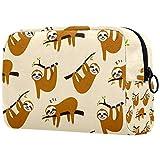 Bolsa de maquillaje personalizada para brochas de maquillaje, bolsa de aseo portátil para mujeres, bolso cosmético, organizador de viaje, lindo perezoso