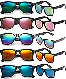 FSMILING 10 Pack Gafas De Sol Espejadas Vintage Gafas De Fiesta Divertidas Para Adultos Niños,lote Gafas Fiesta Colores...