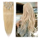 Clip in Hair Extensions Bleach Blonde 14-24...