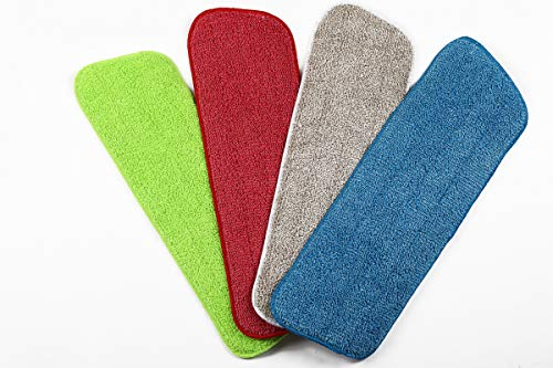 Xifando Microfiber Spray Mop Washable Replacement Heads, Wet and Dry for Floor Cleaning Scrubbing (Multi-Colored)