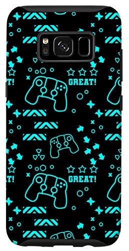 Galaxy S8 Game Controller Pattern Gaming Video Gamer Boys Men Gift Case